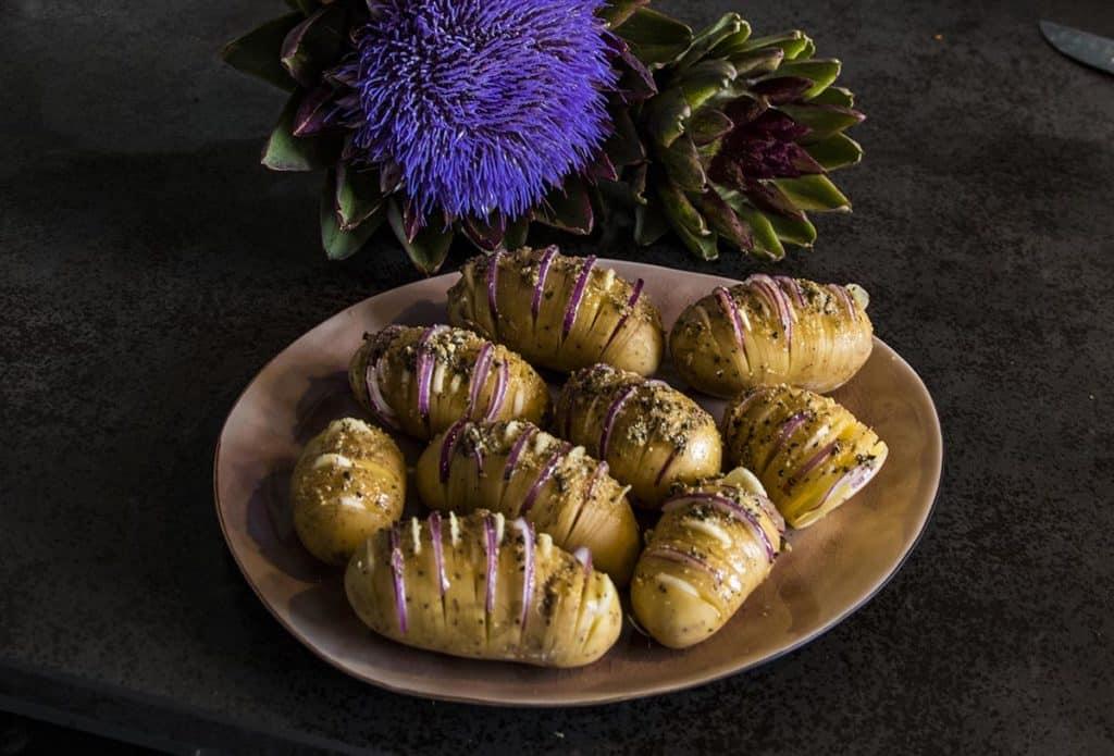 bbq potato aardappel ui knoflook