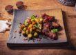 heftschotel mate pompoen, spruiten spek en kip bbq