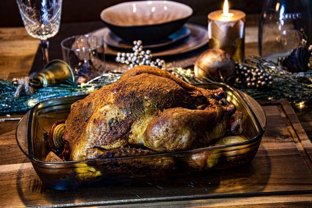 Gebraden Kerstkalkoen met Jus van de BBQ